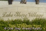 sign for Lake Shore Village